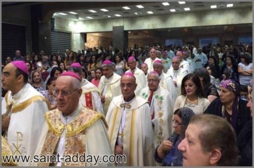 البطريرك ساكو واباء السينودس الكلداني يحتفلون بالقداس في كنيسة ام المعونة في عنكاوا
