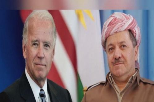بايدن يعرب عن دعمه والولايات المتحدة لزيارة الرئيس بارزاني الى بغداد